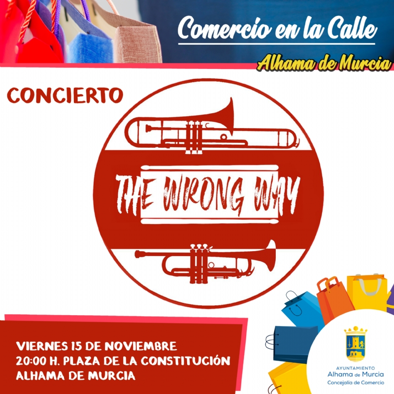 COMERCIO EN LA CALLE: Concierto de The Wrong Way - 1