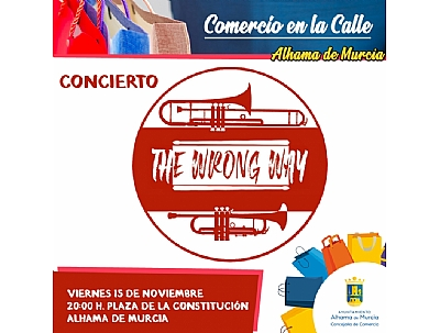COMERCIO EN LA CALLE: Concierto de The Wrong Way