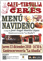 Cafe-tertulia Ceres- MENU NAVIDEÑO