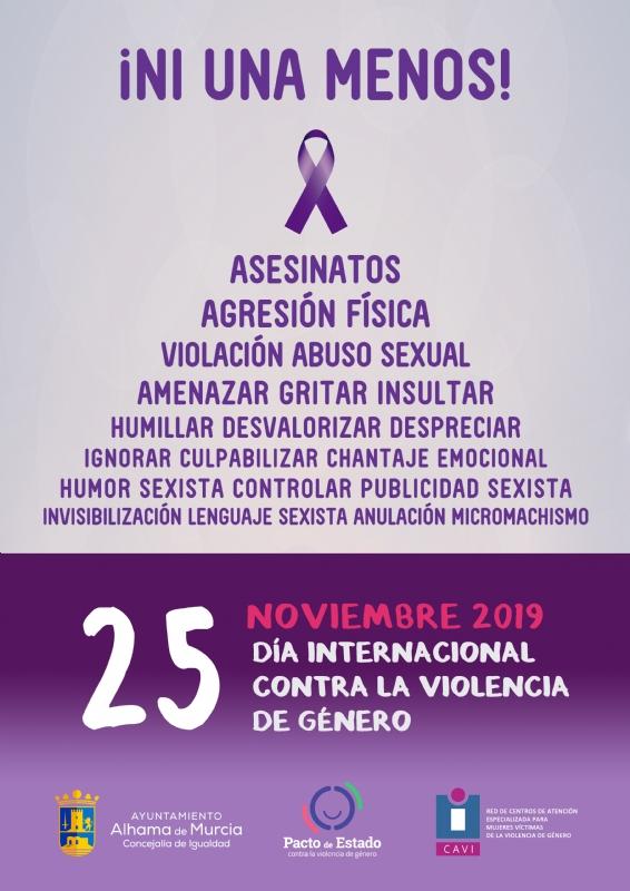 DÍA INTERNACIONAL CONTRA LA VIOLENCIA DE GÉNERO: Lectura del manifiesto - 1