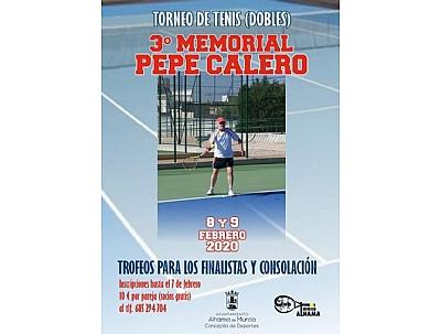 TORNEO DE TENIS: 3er Memorial Pepe Calero