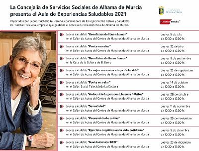 Imagen de CICLO DE CHARLAS SALUDABLES PARA PERSONAS MAYORES: AUTOCUIDADO PERSONAL, BUENOS HÁBITOS
