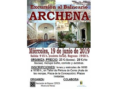 EXCURSIÓN AL BALNEARIO DE ARCHENA