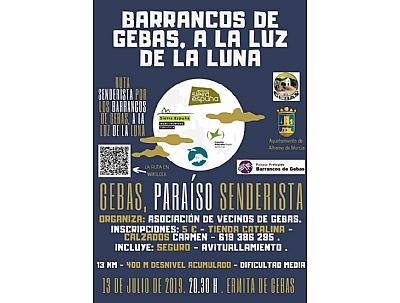 Ruta Senderista por los Barrancos de Gebas a la luz de la luna