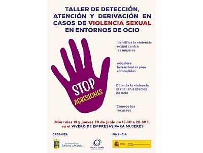 Inicio del taller de detección, atención y derivación de violencia sexual en entornos de ocio