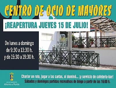 REAPERTURA DEL CENTRO DE OCIO PARA MAYORES