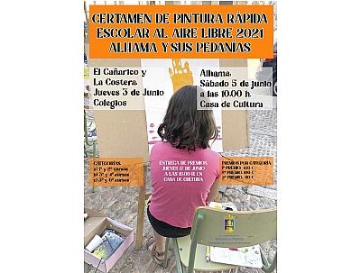 ENTREGA DE PREMIOS DEL CERTAMEN DE PINTURA RÁPIDA ESCOLAR AL AIRE LIBRE 2021 ALHAMA Y SUS PEDANÍAS