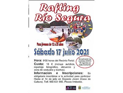 VERANO JOVEN 2021: RAFTING RÍO SEGURA