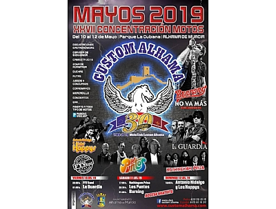 MAYOS 2019 XXVII Concentración motos: concierto de Burning