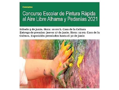 EXPOSICIÓN PREMIADOS DEL CONCURSO ESCOLAR DE PINTURA RÁPIDA AL AIRE LIBRE ALHAMA Y PEDANÍAS 2021