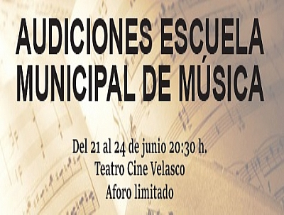 AUDICIONES DE LA ESCUELA MUNICIPAL DE MÚSICA 2021