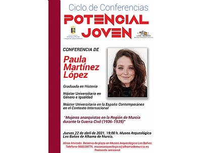 CICLO DE CONFERENCIAS POTENCIAL JOVEN: PAULA MARTÍNEZ