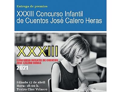 XXXIII CONCURSO INFANTIL DE CUENTOS JOSÉ CALERO HERAS 2021