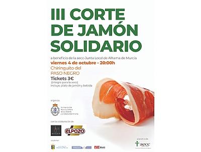 FERIA 2019: III Corte solidario de jamón