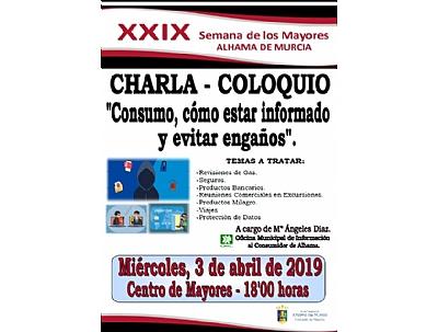 XXVII SEMANA DE LOS MAYORES: Charla - Coloquio