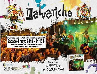 MAYOS 2019: PASACALLES DE CORREMAYOS con MALVARICHE