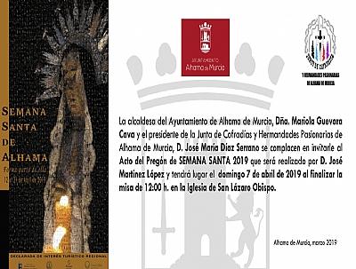 SEMANA SANTA 2019: Pregón de Semana Santa