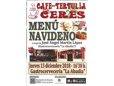 Cafe-tertulia Ceres- MENU NAVIDEÑO