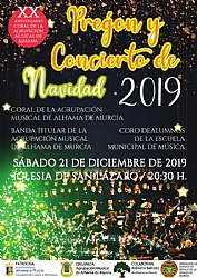 CHRISTMAS 2019: Concert of the brass band and choir of the School of Music and Choir of the Agrupación Musical